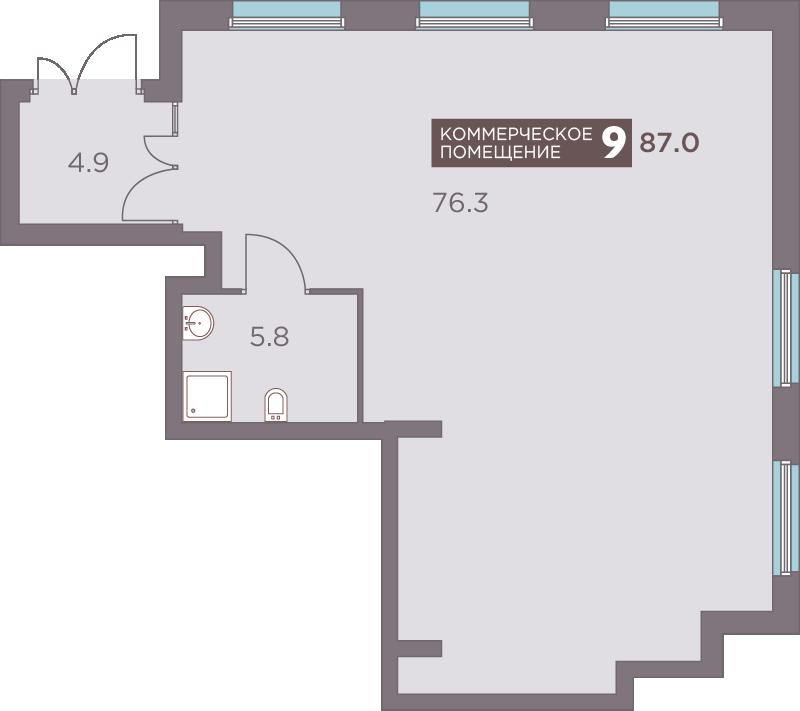 Офис 87.7<span>м<sup>2</sup></span>